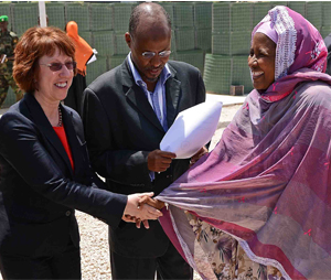 Ashton meets meets co-chair of the Somali technical selection comittee Halima Ismail Ibrahim