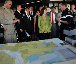 During her visit to Africa in August 2012 Catherine Ashton visited a vessel participating in the EU Naval Force (EUNAVFOR) Somalia – Operation Atalanta, the first EU naval operation