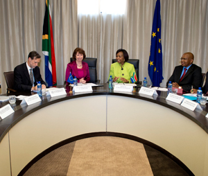 Catherine Ashton travelled to Pretoria to take part in the 11th Ministerial Political dialogue between the EU and South Africa on 24 August