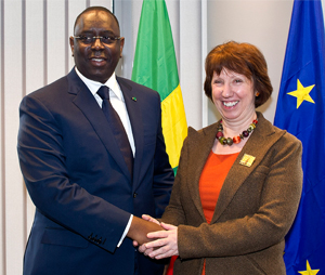 Catherine Ashton with President Macky Sall of Senegal 16 October 2012