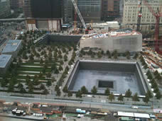 September 11 National Memorial under construction