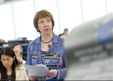 Catherine Ashton at EP Plenary session 17th April © EU 2012