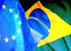 EU and Brazil flags © EU