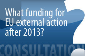 What funding for EU external action after 2013? image © EU