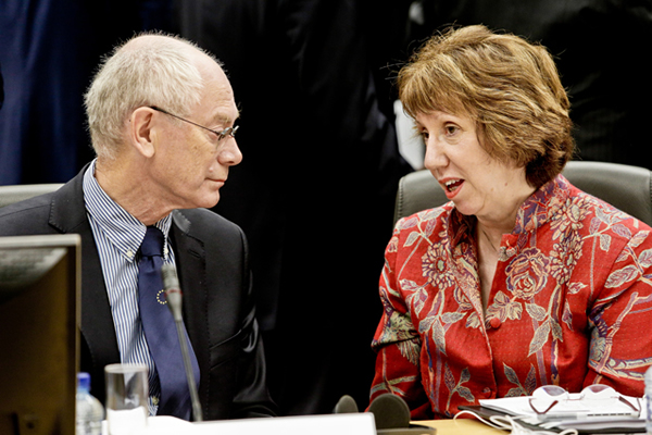 Van Rompuy and Catherine Ashton © EU