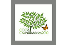 COP16/CMP6 logo is Copyright (©) 2010 of the Government of Mexico