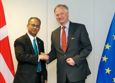 Albert Ramdin (left) with Christian Leffler © EU