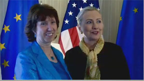 C. Ashton in New York for the UN General Assembly week in Sep 2011 where she also held talks with Hillary Clinton