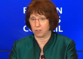 Catherine Ashton, Foreign Affairs Council, October 2012, Press Conference - Part 1