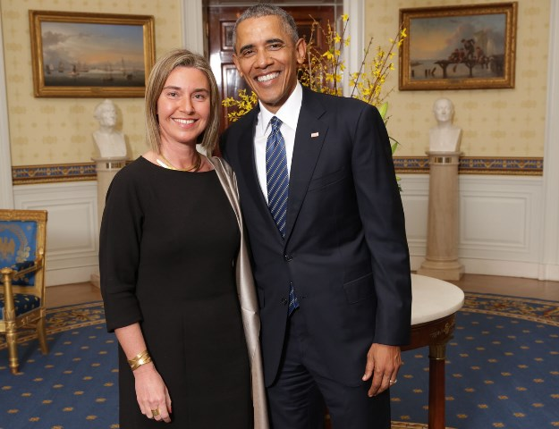 Federica Mogherini and Barack Obama