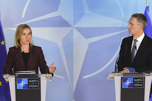 HRVP Mogherini with NATO Secretary General Jens Stoltenberg