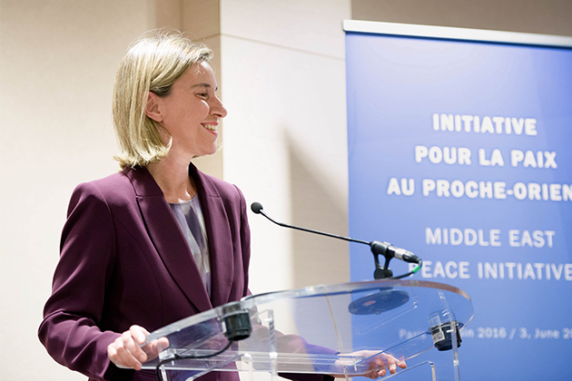 Federica Mogherini at MEPP conference in Paris