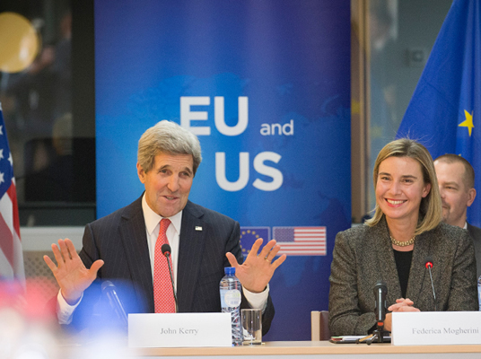 US Secretary of State John Kerry and HRVP Federica Mogherini