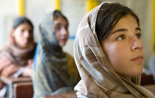 Afghan girls at school © Flickr/International Women's Day