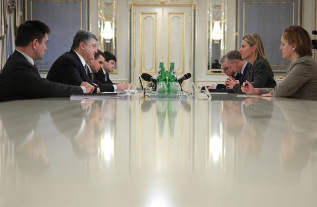 Federica Mogherini in Kyiv, Monday 9 November 2015