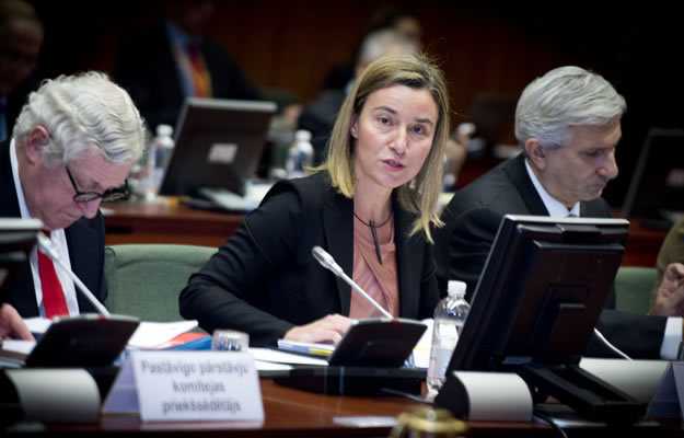 Federica Mogherini chairing the Foreign Affairs Council