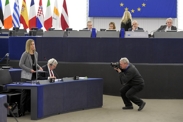 Federica Mogherini at the European Parliament