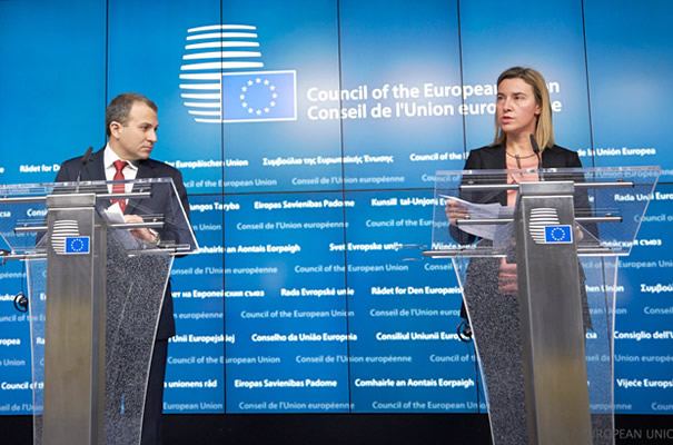 Federica Mogherini at the EU-Lebanon Association Council