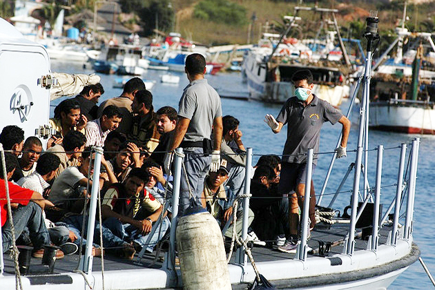 Lampedusa no borders (Photo credit: Wikimedia Commons)