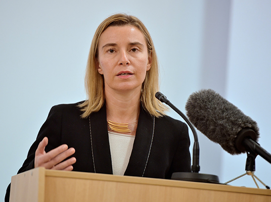 HR/VP Mogherini addresses students in Latvia