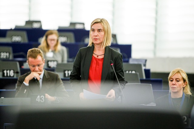 Federica Mogherini at the European Parliament - Plenary Session