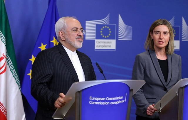 HR/VP Federica Mogherini welcomed Iranian Foreign Minister Javad Zarif