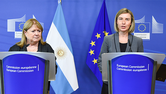 Mogherini receives Foreign Minister of Argentina Malcorra