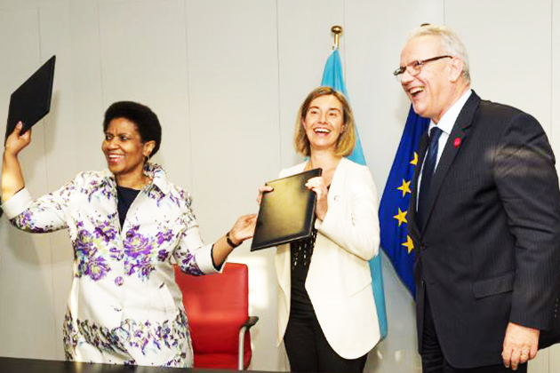 HRVP Mogherini, Commissioner Mimica and Executive Director for UN Women Phumzile Mlambo-Ngcuka - EU-
