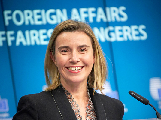 HR/VP Federica Mogherini at Foreign Affairs Council