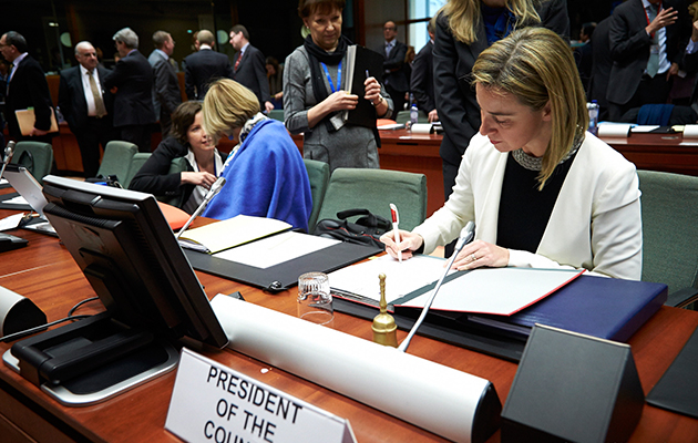 HRVP Federica Mogherini at the Foreign Affairs Council (FAC)