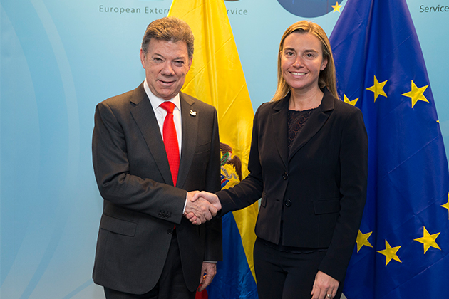HR/VP Federica MOGHERINI meets the President of Colombia, Juan Manuel SANTOS CALDERON