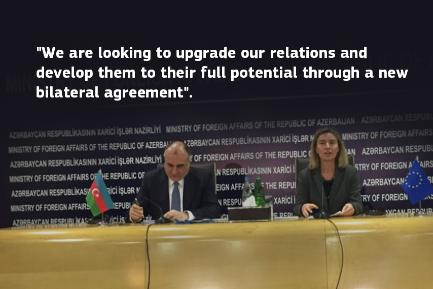 Federica Mogherini in Azerbaijan on 29 February and 1 March