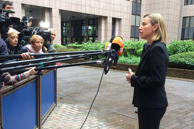 Federica Mogherini and Foreign Ministers