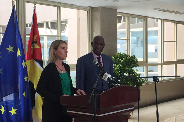 HRVP Mogherini with Mozambique Foreign Minister Oldemiro Balói