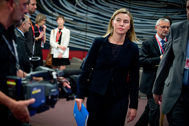 Federica Mogherini at the Extraordinary European Council on migratory crisis