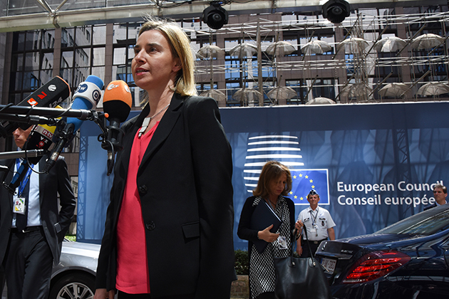 European Council - Federica Mogherini addressing the media