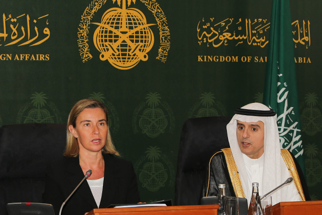 Joint press conference of the HRVP with Saudi Foreign MinisterAdel al-Jubeir