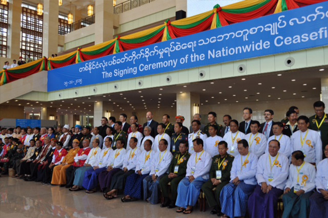 Nationwide Ceasefire Agreement in Myanmar/Burma - Ceremony