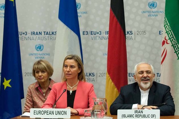 Iran Talks in Vienna : Federica Mogherini and Javad Zarif