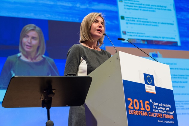 Federica Mogherini at the European Culture Forum 2016 - Brussels