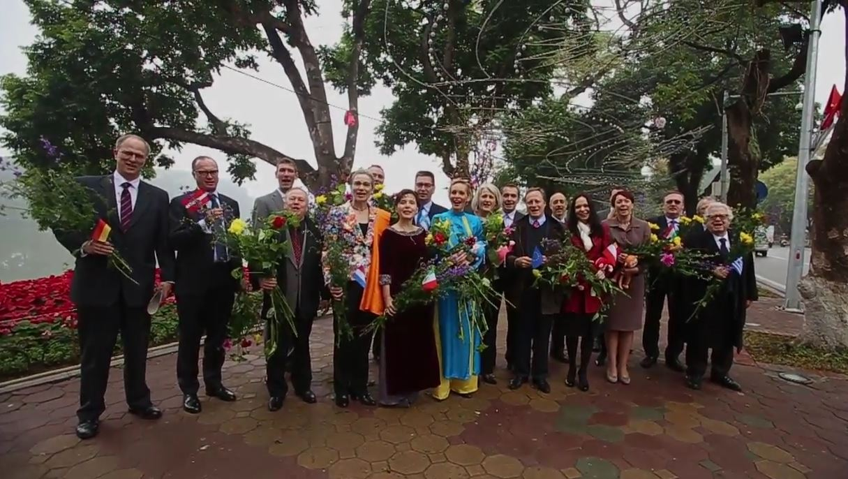 EU Ambassadors celebrate Vietnamese New Year