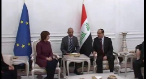 Catherine Ashton leads the negotiations with the E3+3 with Iran in Baghdad